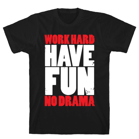 Work Hard, Have Fun, No Drama Mens T-Shirt