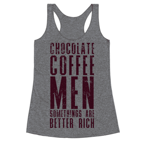 Chocolate Coffee Men Racerback Tank Top