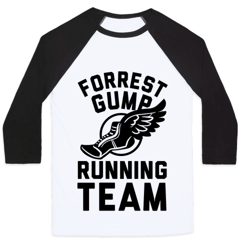 Forrest Gump Running Team Baseball Tee