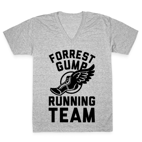 Forrest Gump Running Team V-Neck Tee Shirt
