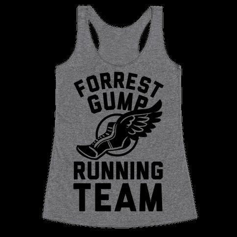 Forrest Gump Running Team Racerback Tank Top