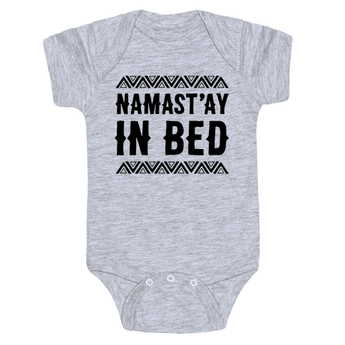 Namasta'ay In Bed Baby Onesy