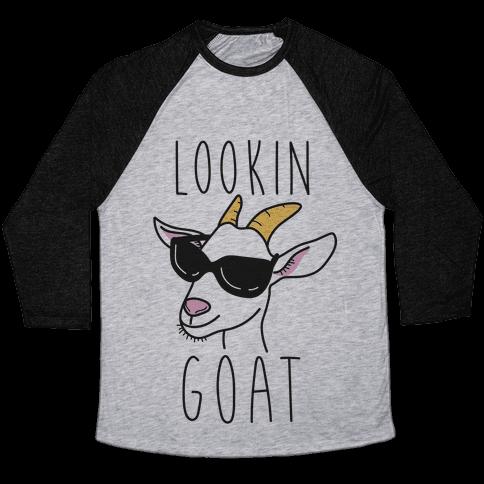 Lookin Goat Baseball Tee