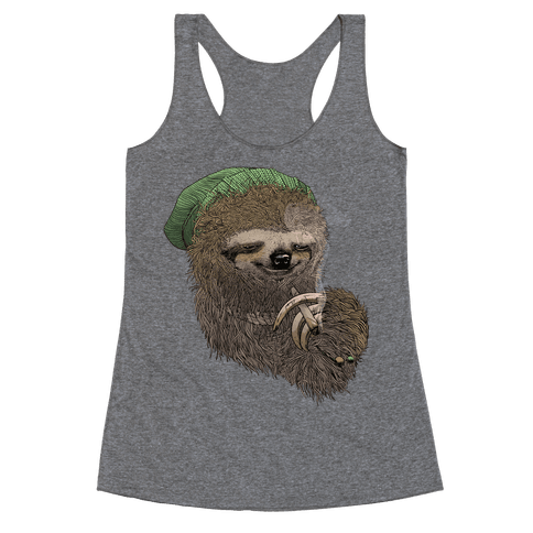 Dank Sloth Racerback Tank Top