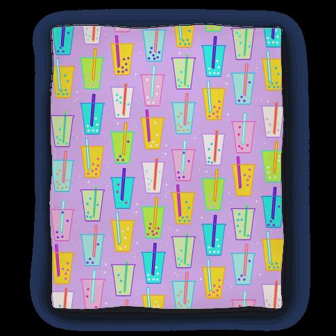 Boba Bubble Tea Pattern Blanket