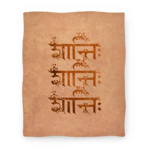 Shanti Shanti Shanti Blanket