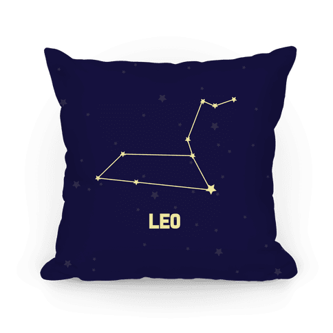 Leo Horoscope Sign Pillow