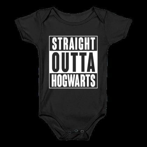 Straight Outta Hogwarts Baby Onesy