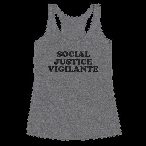 Social Justice Vigilante Racerback Tank Top