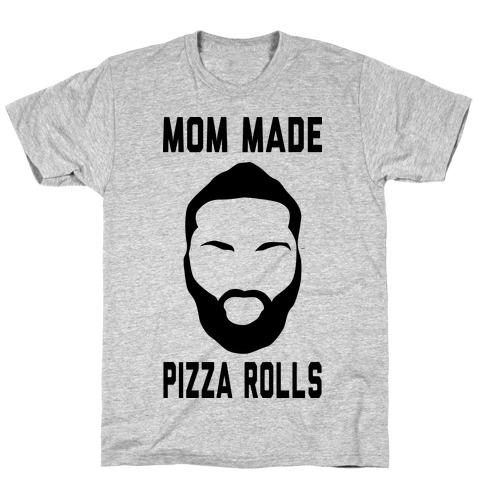 Mom Made Pizza Rolls (Harden Edition) Mens T-Shirt