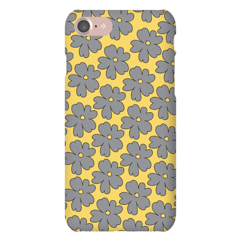 Gray Flower Case Phone Case