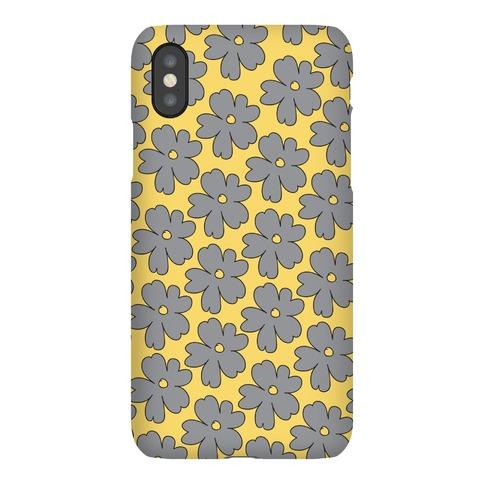 Gray Flower Case Phone Case