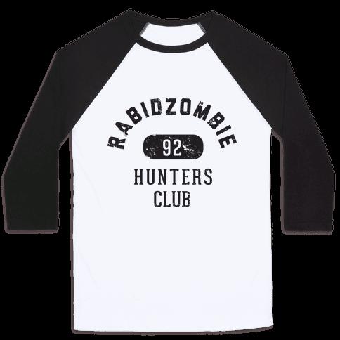 RabidZombie Hunters Club Hoodie Baseball Tee