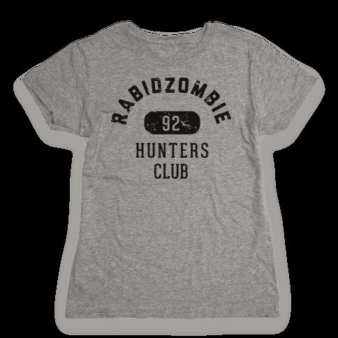 RabidZombie Hunters Club Hoodie Womens T-Shirt
