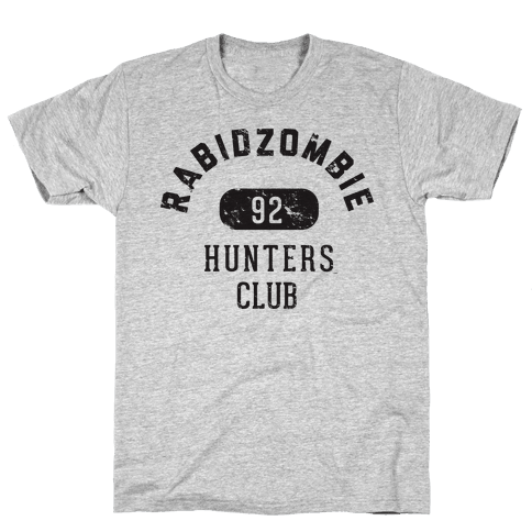 RabidZombie Hunters Club Hoodie Mens T-Shirt