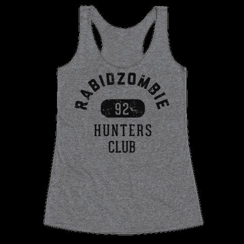 RabidZombie Hunters Club Hoodie Racerback Tank Top