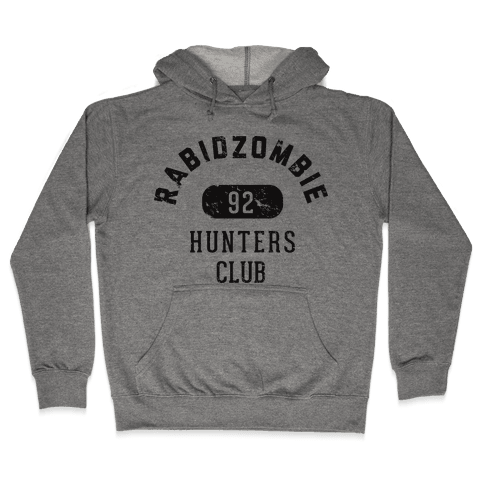 RabidZombie Hunters Club Hoodie Hooded Sweatshirt