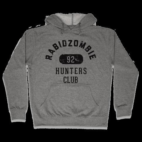 RabidZombie Hunters Club Hoodie Hooded Sweatshirt