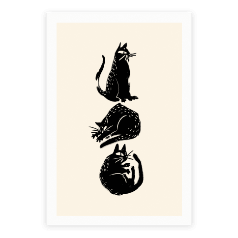 Cat Shapes Poster