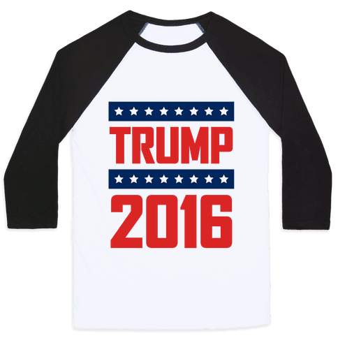 Donald Trump 2016 Baseball Tee