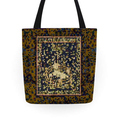 Pixel Unicorn Tapestry Tote