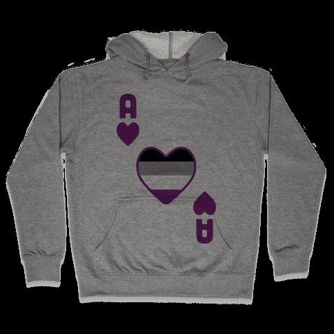 Ace Of Hearts Hooded Sweatshirt