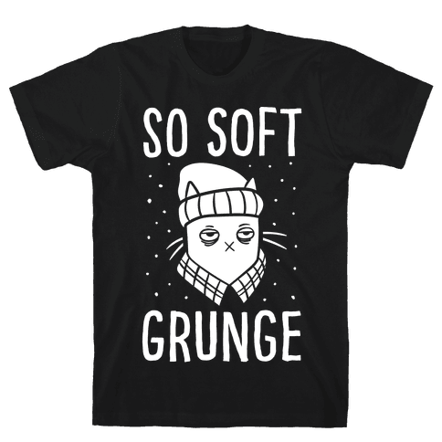 Soft Grunge Cat Mens T-Shirt