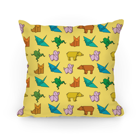 Origami Animal Pattern Pillow