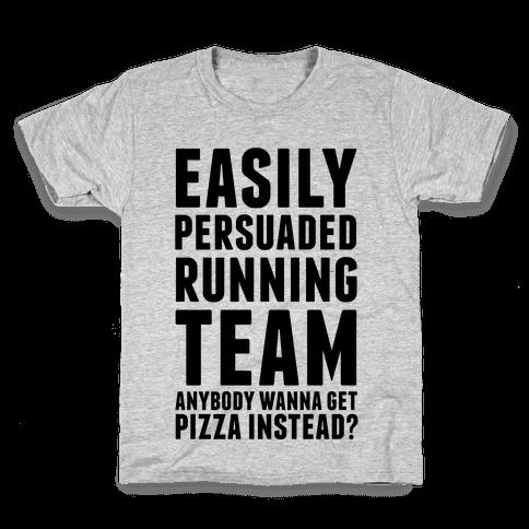 Easily Persuaded Running Team Kids T-Shirt