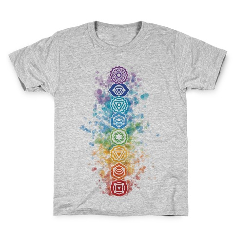 Watercolor Chakra Symbols Kids T-Shirt