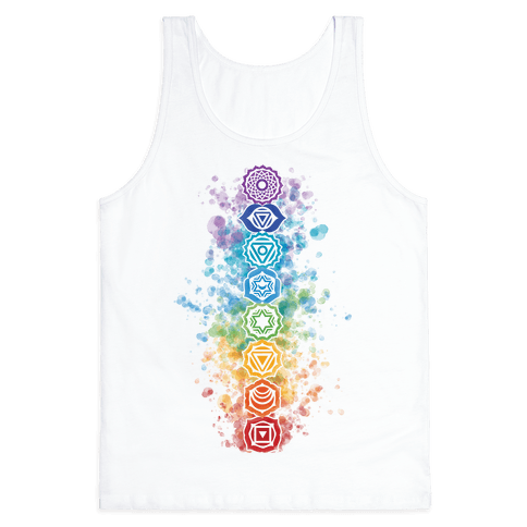 Watercolor Chakra Symbols Tank Top