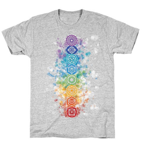Watercolor Chakra Symbols T-Shirt