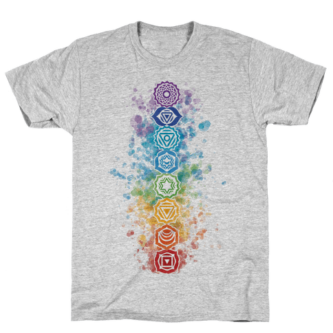 Watercolor Chakra Symbols Mens T-Shirt