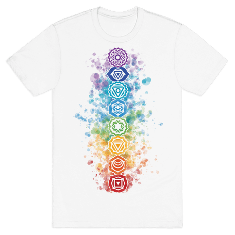 Watercolor Chakra Symbols Mens T-Shirt