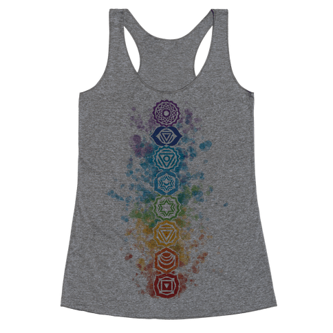 Watercolor Chakra Symbols Racerback Tank Top