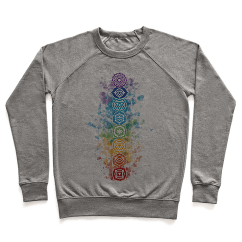 Watercolor Chakra Symbols Pullover