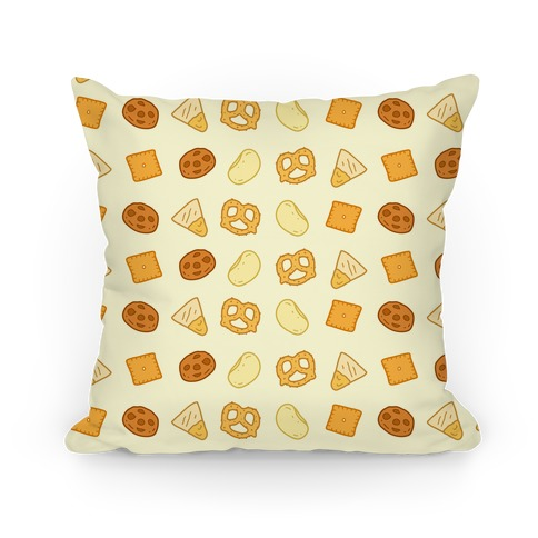 Snacks Pattern Pillow