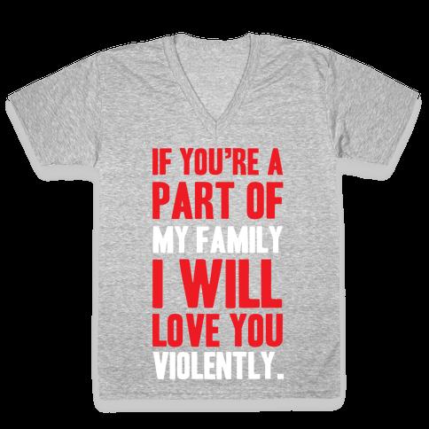 Violent Love V-Neck Tee Shirt