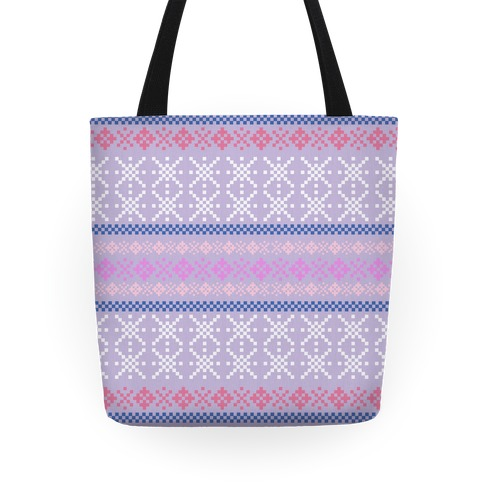 Sweater Purple Pattern Tote