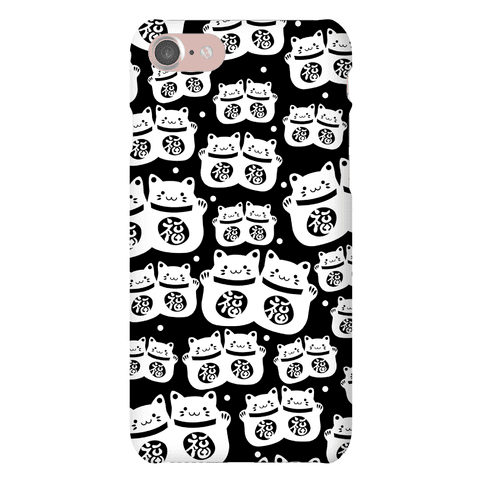 Lucky Cat Pattern Phone Case