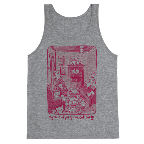 My Kind Of Party Is A Cat Party Tank Top