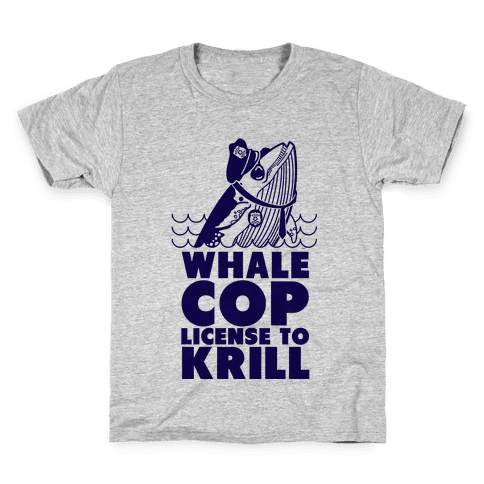 Whale Cop Kids T-Shirt