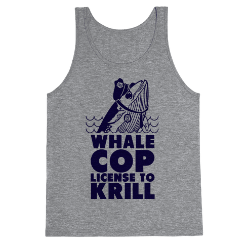 Whale Cop Tank Top