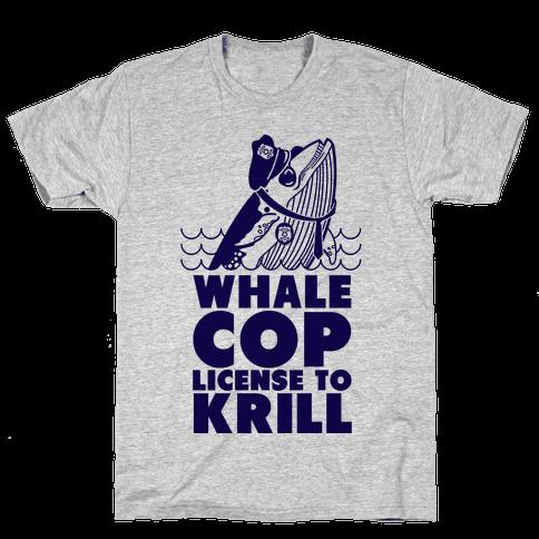 Whale Cop Mens T-Shirt