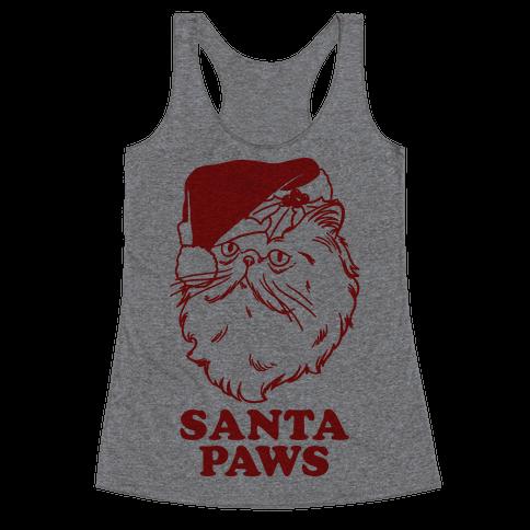 Santa Paws Racerback Tank Top