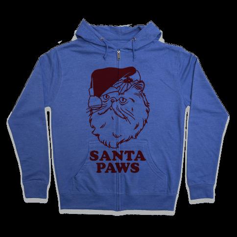Santa Paws Zip Hoodie