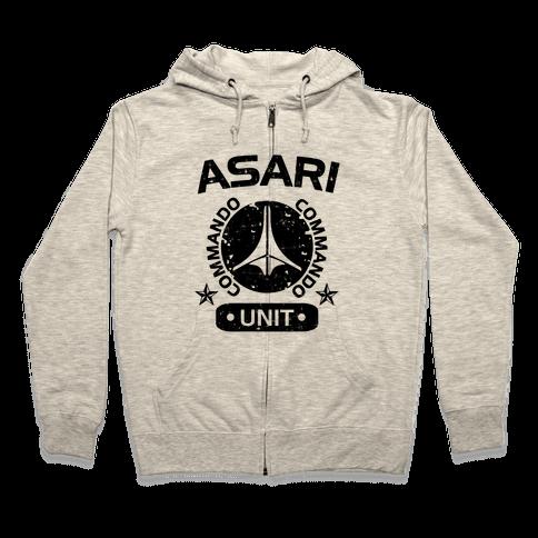 Asari Commando Unit Zip Hoodie