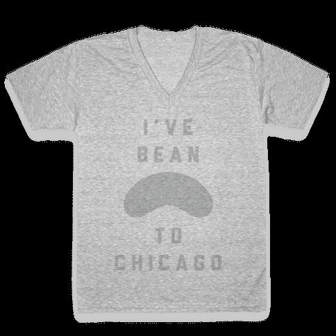 I've Bean To Chicago V-Neck Tee Shirt