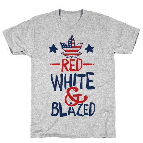 Red, White and Blazed Mens T-Shirt