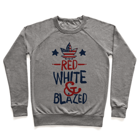 Red, White and Blazed Pullover